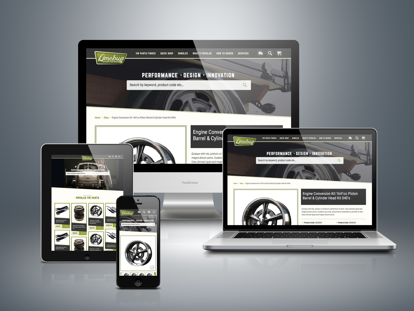 Signature Website Development for Limebug by Kent Web Development Company
