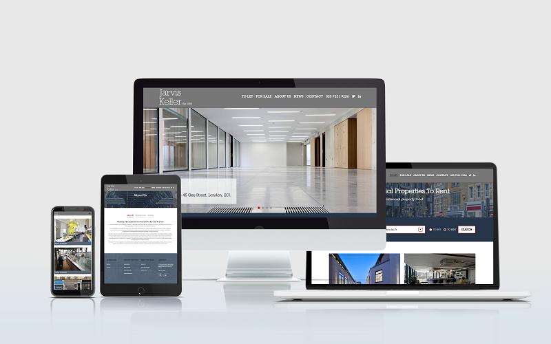 Signature website design for Jarvis Keller by kent web development company