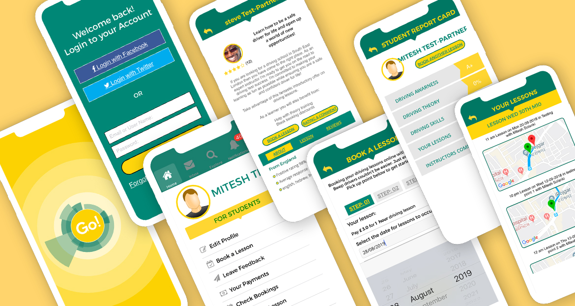 Signature Mobile First Website Design, App Development for Go Beep Beep by digital marketing and web development company based in kent