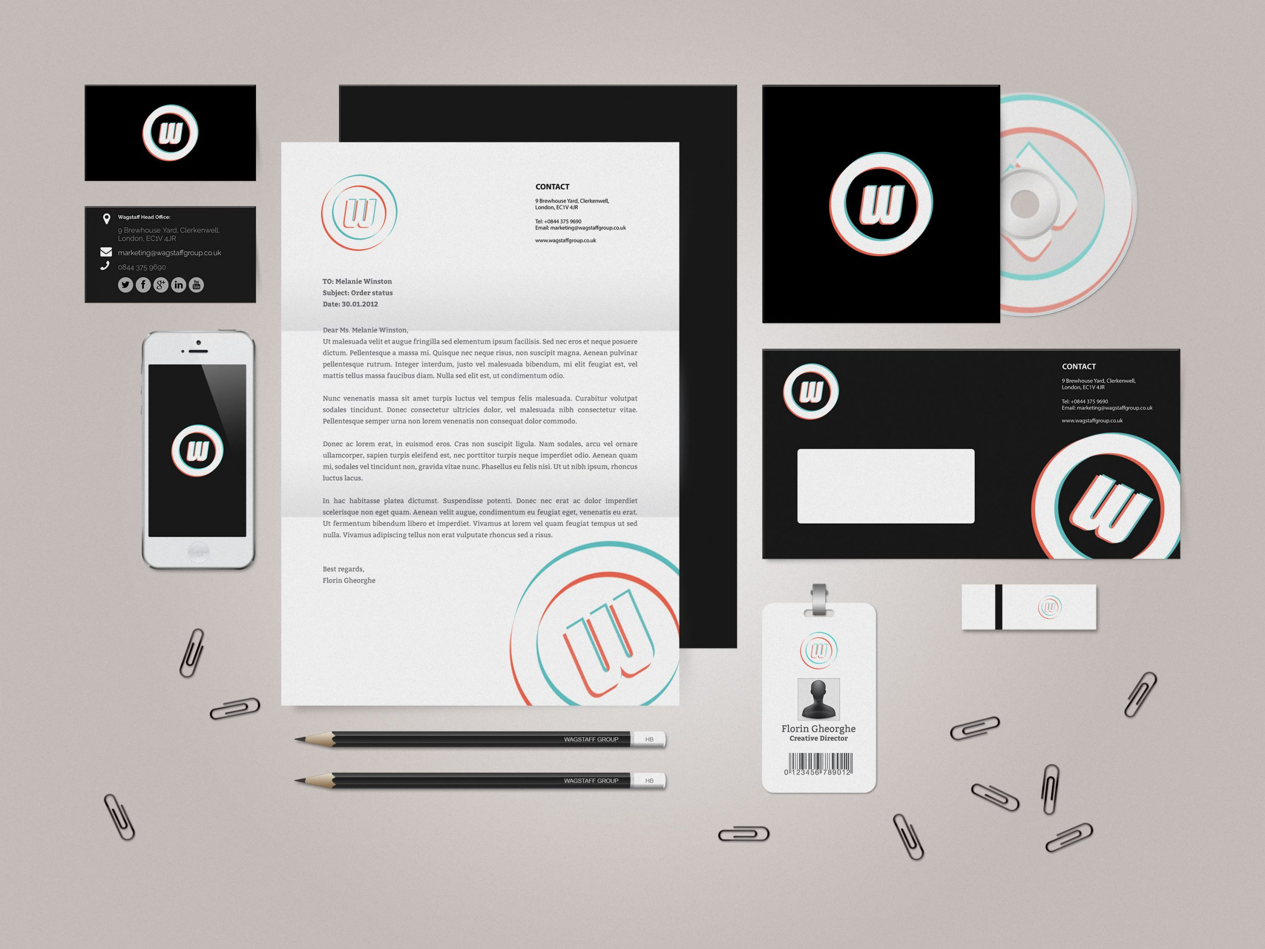 Signature Branding, Identity, Stationery Ideas for Wagstaff